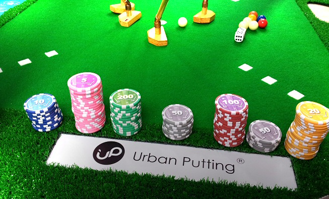 Game set of Urban Putting